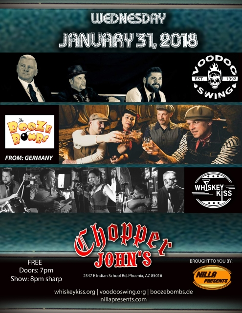 Whiskey Booze and Voodoo Chopper Johns Jan 31